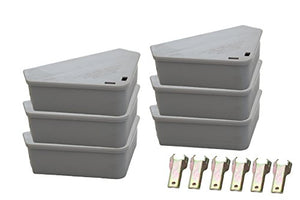 Venditor 6 Pack Mouse Bait Station with 6 Keys (2 Bonus Ant Poison Stations)