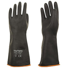 "Load image into Gallery viewer, ThxToms Heavy Duty Chemical Resistant Latex Gloves, 14"" (1 Pair)"
