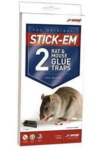 "JT Eaton Rat/Mouse Size Double Glue Trap Tray, 10"" L x 5"" W x 3/4"" H, (Case of 6)"