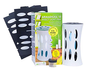 Bite-Lite Armadilha Indoor UV Light Fly Trap Killer of House Flies, Stink Bugs, Fruit Flies, and Other Small Flying Insects. Attractive Electronic Fly Catcher Comes with 2 Non-Toxic Sticky Glue Boards