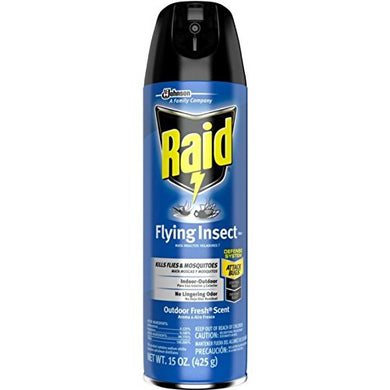 Raid Flying Insect Killer Spray (Pack of 12 x 15oz. Cans)