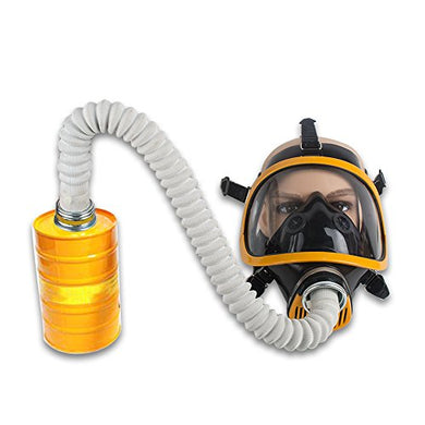 Zinnor Full Face Gas Mask Organic Vapor Respirator w/Activated Carbon Respirator