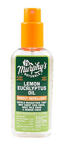 Murphy's Naturals Lemon Eucalyptus Oil Insect Repellent | DEET Free Plant-Based Mosquito Repellent | 4-Ounce Pump Spray | Made in USA