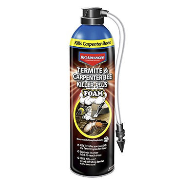 BioAdvanced Termite & Carpenter Bee Killer Plus Foam Pesticide (18 oz. Spray)