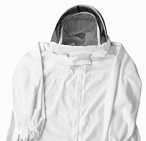 VIVO Professional XL Cotton Full Body Beekeeping Bee Keeping Suit, with Veil Hood (BEE-V106XL)