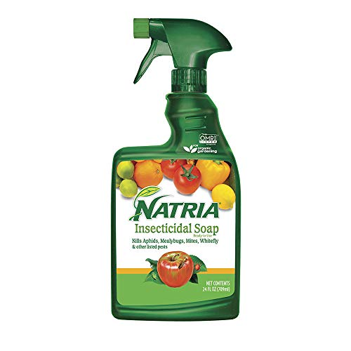 Natria 706230A Insecticidal Soap Organic Miticide (24 oz Spray Bottle)