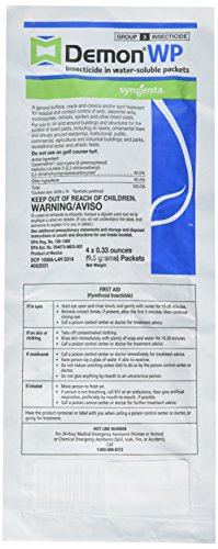 Demon WP Insecticide, 1 Envelope w/ 4 (0.33 oz) Packets