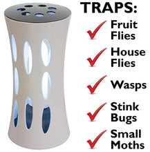 Load image into Gallery viewer, Bite-Lite Armadilha Indoor UV Light Fly Trap Killer of House Flies, Stink Bugs, Fruit Flies, and Other Small Flying Insects. Attractive Electronic Fly Catcher Comes with 2 Non-Toxic Sticky Glue Boards