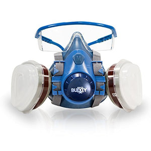 Breath Buddy Half-Face Respirator Plus Safety Goggles