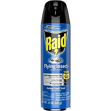 Raid Flying Insect Killer Spray (Pack of 2 x 15oz Cans)