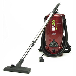 Atrix - VACBP36V Backpack Cordless Vacuum HEPA Filter Battery Powered Cordless Backpack Vac (Red)