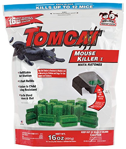 Tomcat Mouse Killer Refillable Mouse Bait Station with 16 Bait Blocks