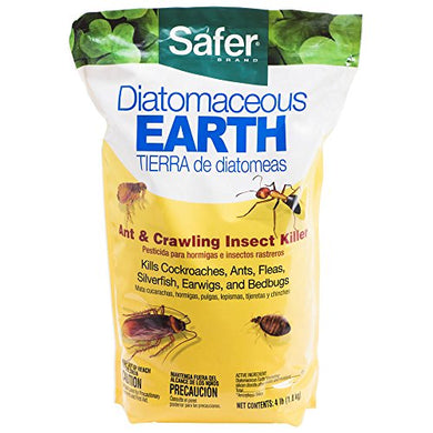 Safer Brand Diatomaceous Earth-Bed Bug Flea, Ant, Crawling Insect Killer, 4 lb