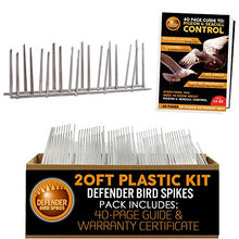 Load image into Gallery viewer, Defender Plastic Bird Control Spikes Kit (20 Ft)