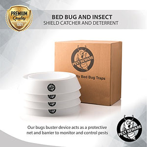 Pest Beware Bed Bug Interceptor Trap (Pack of 4, White)