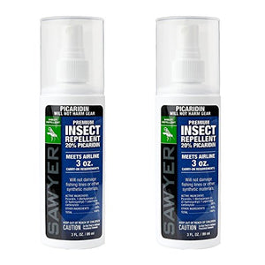 Sawyer Products Premium Insect Repellent with 20% Picaridin, Pump Spray (3 oz. Bottle, 2 Pack)