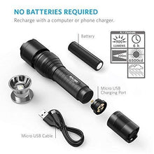 Load image into Gallery viewer, Anker Super Bright Tactical Flashlight, Rechargeable (18650 Battery Included), Zoomable, IP65 Water-Resistant, 900 Lumens CREE LED, 5 Light Modes for Camping and Hiking, Bolder LC90