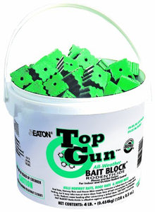 JT Eaton 750 Top Gun All Weather Rodenticide Bait Block, Kills Mice and Rats (Pail of 128)