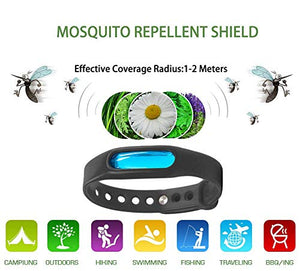Mosquito Repellent Bracelets, 100% All Natural Plant-Based Oil, DEET Free, Non-Toxic (Pack of 6)