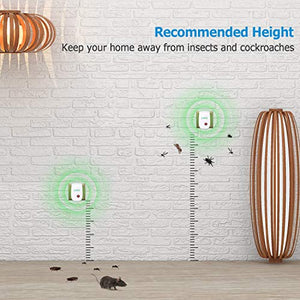 VEPOWER Ultrasonic Electronic Insect & Rodent Repellent (6 Pack)