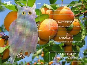 Homescape Creations Owl Bird Repellent Control Scare Device