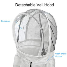 Load image into Gallery viewer, Luwint Kids Full Body Ventilated Beekeeping Suits - Cotton Bee Beekeeper Suit with Self Supporting Fencing Veil Hood for Children (White/4.9ft Height)