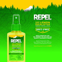 Load image into Gallery viewer, REPEL Plant-Based Lemon Eucalyptus Insect Repellent, Pump Spray, 4-Ounce