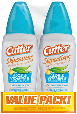 Cutter Skinsations Insect Repellent Pump Spray (6 oz. Bottle, 2 Pack)