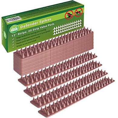 Defender Spikes Outdoor Fence Cat Repellent (20 Pack / 20 Ft)