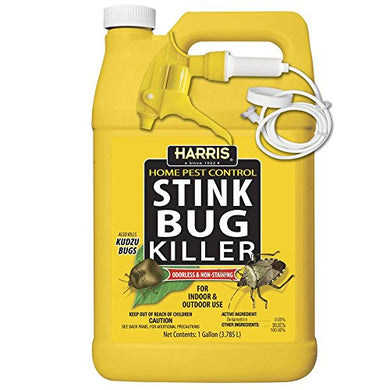 Harris Stink Bug Killer, Liquid Spray with Odorless and Non-Staining Extended Residual Kill Formula (Gallon)
