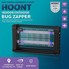 Load image into Gallery viewer, Hoont Bug Zapper Powerful Indoor Electric Fly Zapper Trap – 40 Watts, Protects 6,500 Sq. Ft. – Fly Killer, Insect Killer, Mosquito Killer – For Residential, Commercial and Industrial Use [UPGRADED]