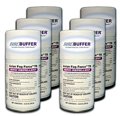 BirdBuffer Six Pack Canister Replacement for Timed Release Bird Repellant Kit