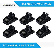 Load image into Gallery viewer, Guarden All Weather Rat Snap Traps, Kills Gophers, Voles, Mice, and Rat (6 Traps)
