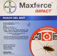 Load image into Gallery viewer, Maxforce Impact Roach Gel Bait (Four 30g Tubes)