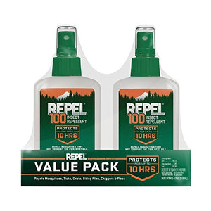 Repel 100 Insect Repellent, Pump Spray (4 oz. Bottle, 2 Pack)