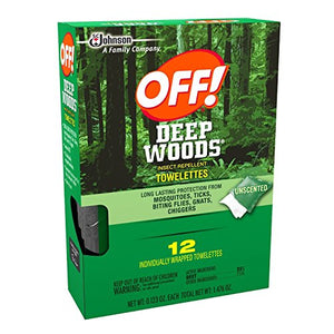 Deep Woods Off Deep Woods Insect Repellent Wipes (12 Towelettes, Pack of 3)