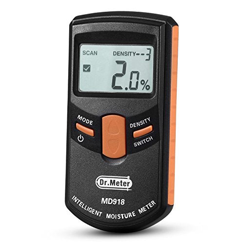 Pinless Digital Wood Moisture Meter (Range 4% - 80% RH; Accuracy: 0.5%)