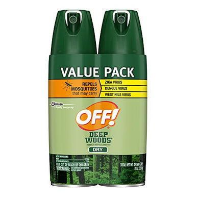 OFF! Deep Woods Insect Repellent VIII Dry (4 oz. Bottle, 2 Count)
