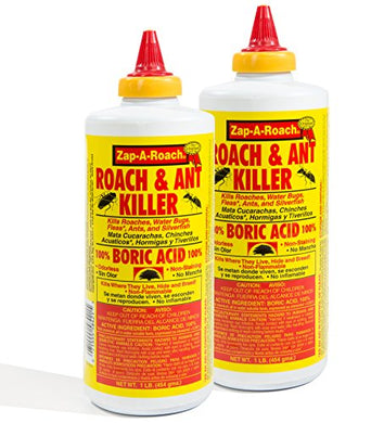 Boric Acid Roach & Ant Killer (1 Lb. Bottle, 2 pack)