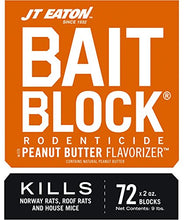 Load image into Gallery viewer, JT Eaton 709-PN Bait Block Rodenticide Bait, Peanut Butter Flavor, Kills Rats & Mice (9 lb Pail of 144)