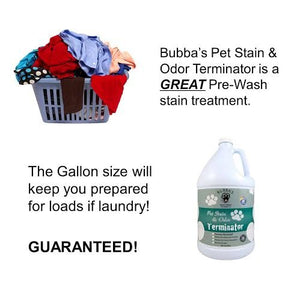 BUBBAS Super Strength Commercial Enzyme Cleaner & Odor Eliminator (1 Gallon)