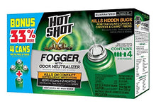 Load image into Gallery viewer, Hot Shot Indoor Fogger With Odor Neutralizer (2 oz. Cans, 4 Pack)