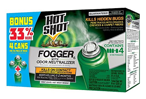 Hot Shot Indoor Fogger With Odor Neutralizer (2 oz. Cans, 4 Pack)