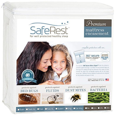 SafeRest Bed Bug Mattress Encasement (Queen, 9