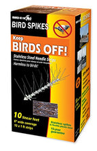 Load image into Gallery viewer, Bird-X Stainless Steel Bird Spikes Kit, Covers 10 feet