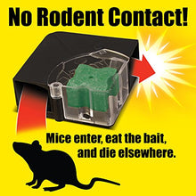 Load image into Gallery viewer, D-CON Refillable Corner Fit Mouse Poison Bait Station (1 Trap + 6 Bait Refills)