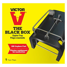 Load image into Gallery viewer, Victor The Black Box Gopher Trap, Reusable, Weather-Resistant