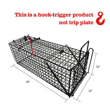 "Load image into Gallery viewer, Large Live Animal Trap, Humane Catch Release Cage (31""X10.5""X11.5"")"