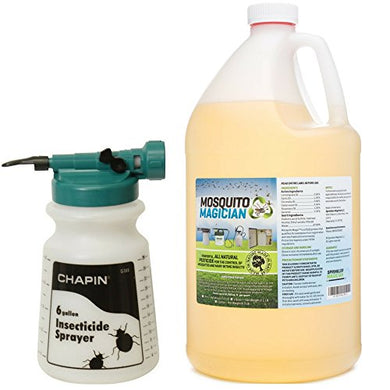 Mosquito Magician Hose Sprayer w/ 1 Gallon Natural Mosquito Killer Concentrate