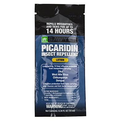 Sawyer Products Premium Insect Repellent with 20% Picaridin, Individual Lotion Packets (14 Pack)